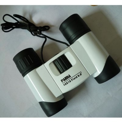Panda 10x18 Blue Multilayer Antireflection Film Binoculars - Ceramic White